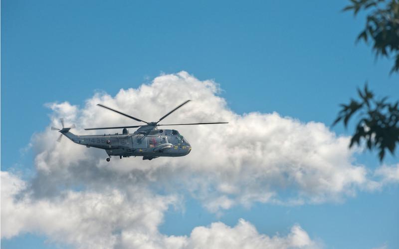 Military helicopter, Halifax, Nova Scotia, Canada.