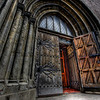 HDR: Entrance to the Riga Cathedral, Riga, Latvia.