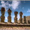 The moais at Anakena, Easter Island (Rapa Nui).