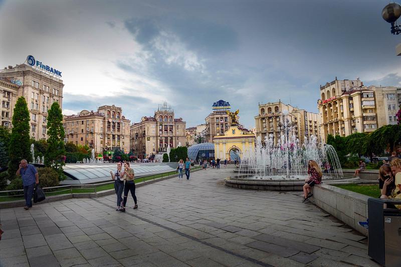 Buildings on the Maidan, Kiev, Ukraine HDR..