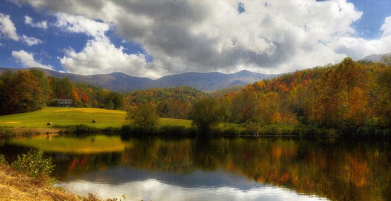 Textured HDR: The Pond Around the Corner, North Georgia, USA, October, 2010.
