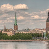 HDR: Riga, Latvia old town and the Daugava River.