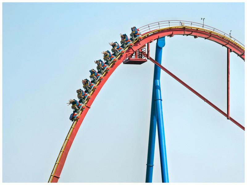 La Ronde amusement park, Montreal, Quebec, Canada.