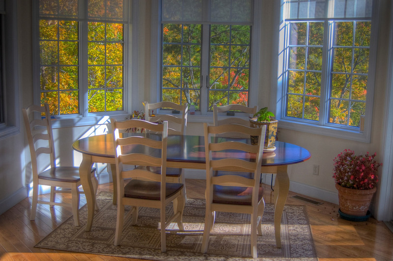 HDR: The dining room in autumn.