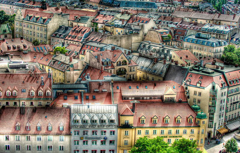 Over Munich, Germany - HDR.