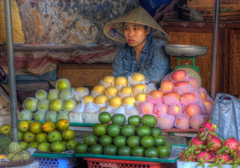HDR: Hoi An, Vietnam market.