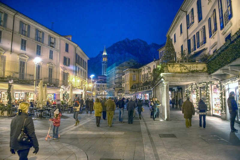 HDR: Lecco, Italy.