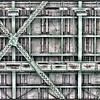 Under the 1930 Jacques Cartier bridge, Montreal, Quebec, Canada - HDR.