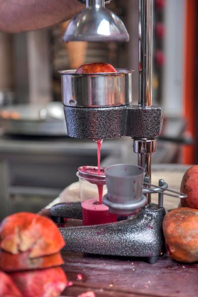 Pomegranate juice, anyone? Istanbul, Turkey - HDR.