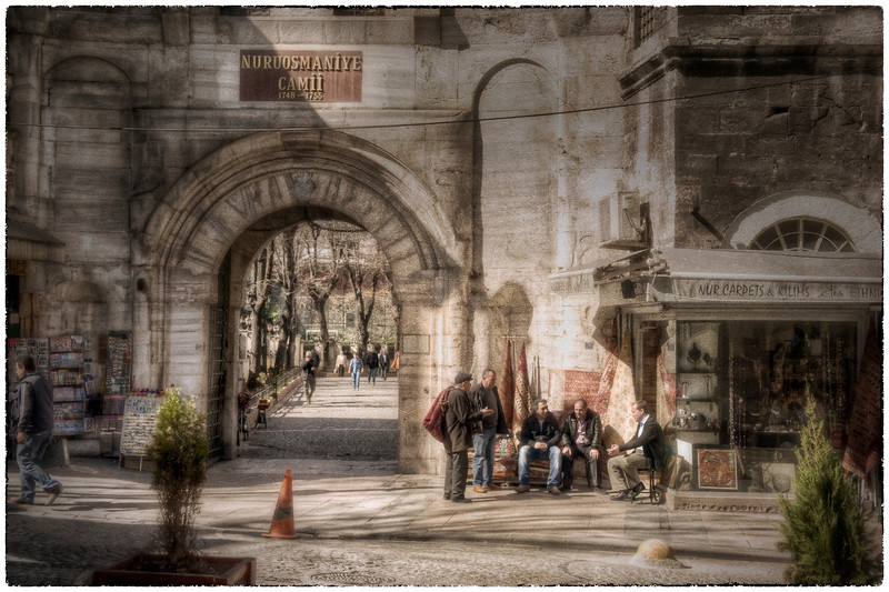 Near the grand bazaar, Sultanahmet, Istanbul, Turkey. HDR, with texture by SkeletalMess - HDR.
