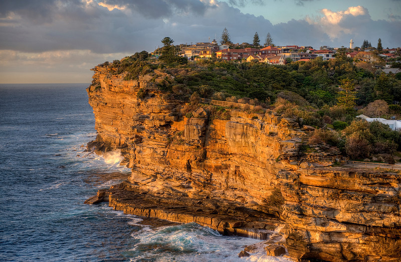 HDR: The cliffs at Watson's Bay, New South Wales, Australia.