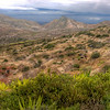 The very strange landscape of St. Helena Island, South Atlantic Ocean - HDR.