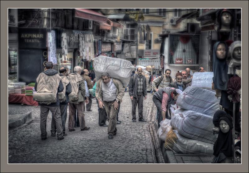 Day labor. Istanbul, Turkey - HDR.