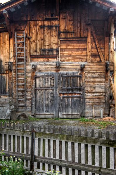 Barn, Mürren, Switzerland - HDR.