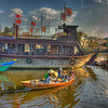 HDR: Boats at Hoi An, Vietnam.