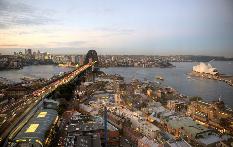 HDR: Sydney, Australia skyline.