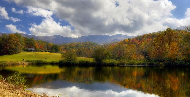 HDR: The Pond Around the Corner, North Georgia, USA, October, 2010.