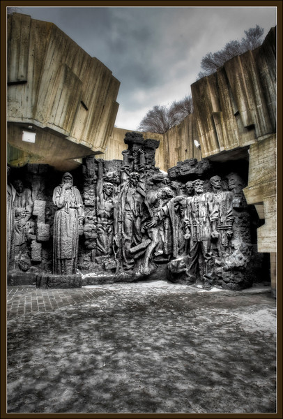 Monument outside the World War II museum, Kyiv, Ukraine - HDR.