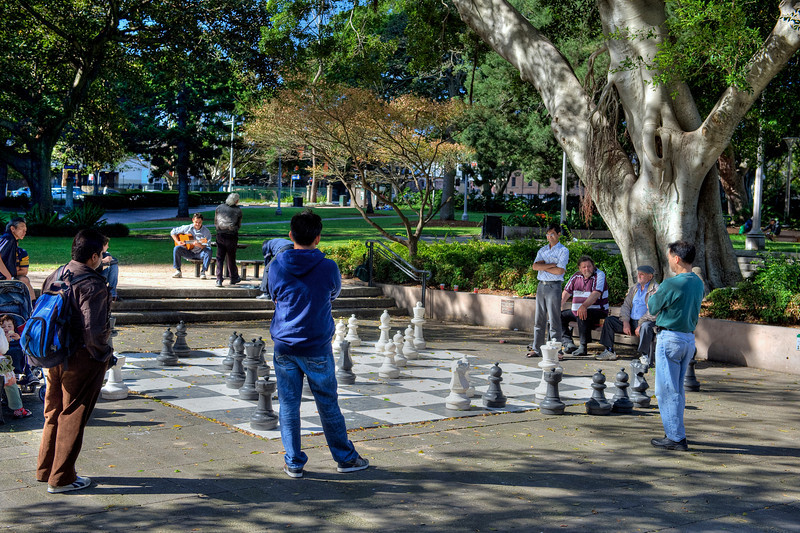 HDR: Chess match, Sydney, Australia.