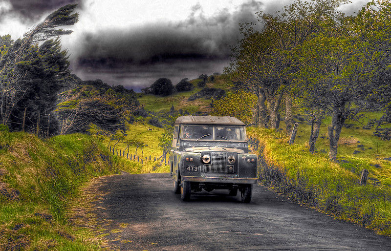 A drive in the country. St. Helena Island, South Atlantic Ocean - HDR Treatment One.