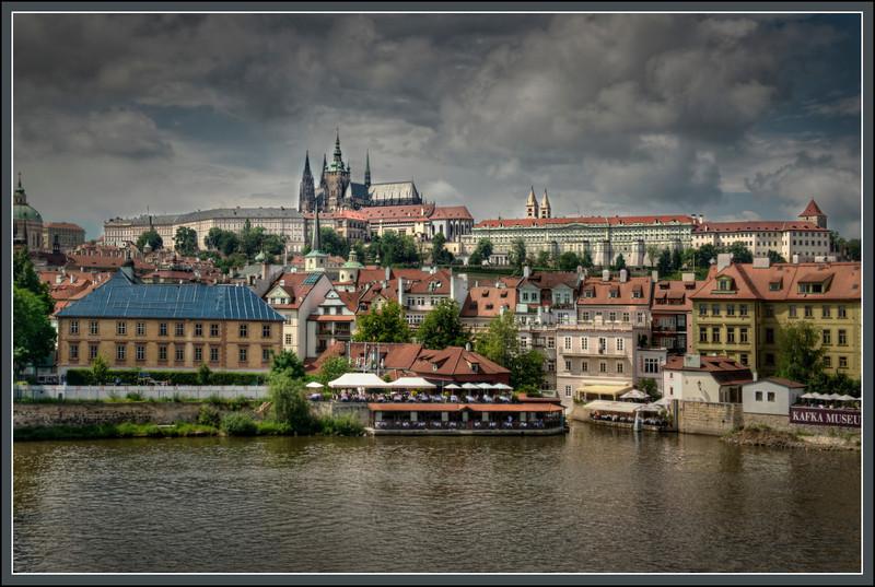 Prague Castle and St. Vitus Church, Prague, Czech Republic.