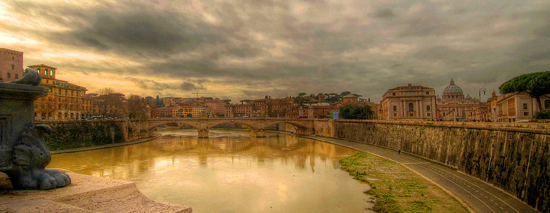 The Tiber River and the Vatican - HDR.