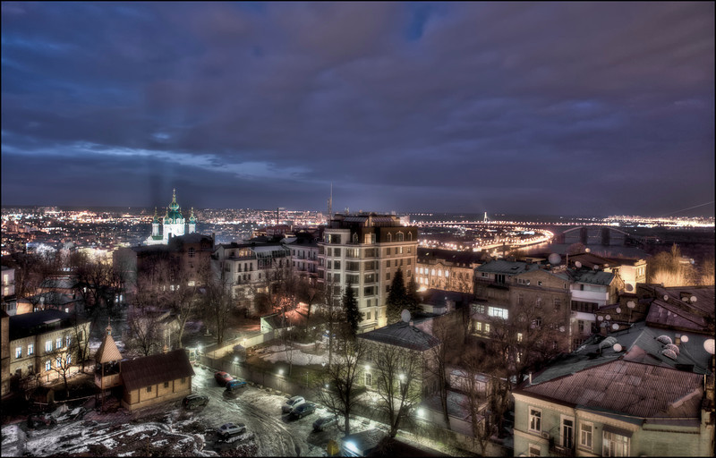 Kyiv, Ukraine and the Dnieper River - HDR.