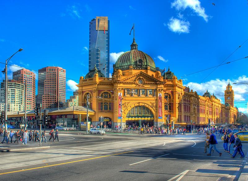 HDR: Flinders Street Railway Station, Melbourne, Australia HDR.