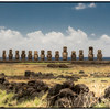 The moais at Tongariki, Easter Island (Rapa Nui).