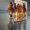 Every day, camels take tourists on a sunset walk along the beach in Broome, Australia.