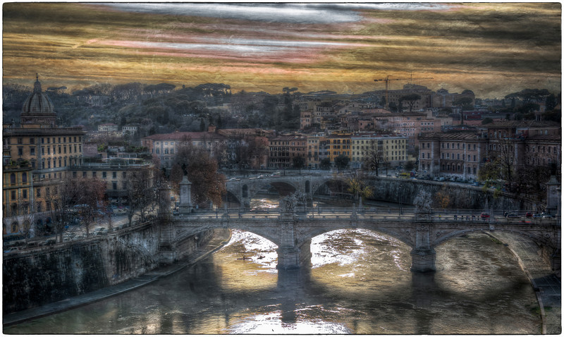 The Tiber River, Rome, Italy - HDR.