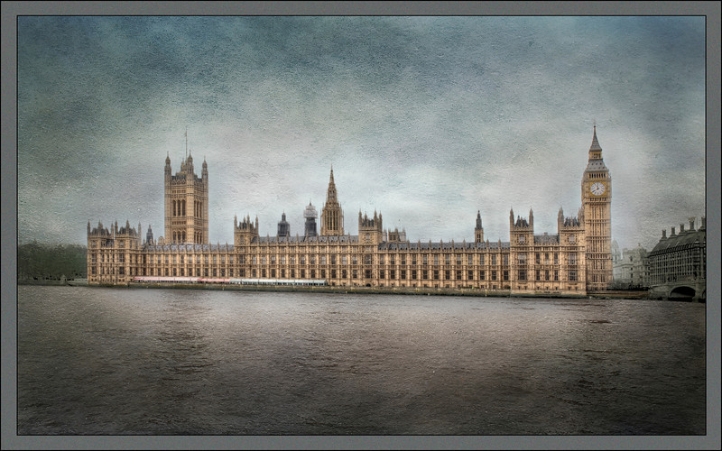 The British Parliament Building as an Oil Painting - HDR.