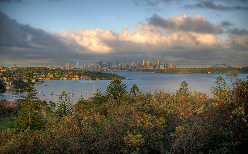 HDR: Sydney, Australia sunrise HDR, crop #2.