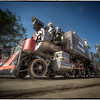 Antique train, Havana, Cuba.