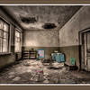 Kindergarten inside the 30-kilometer Chernobyl Exclusion Zone, near Chernobyl, Ukraine - HDR.