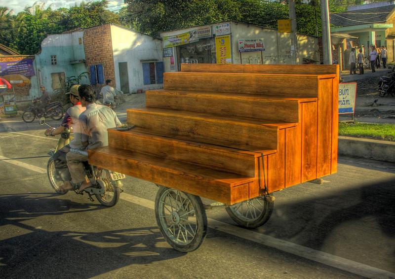 HDR: Local transport, Hoi An, Vietnam.