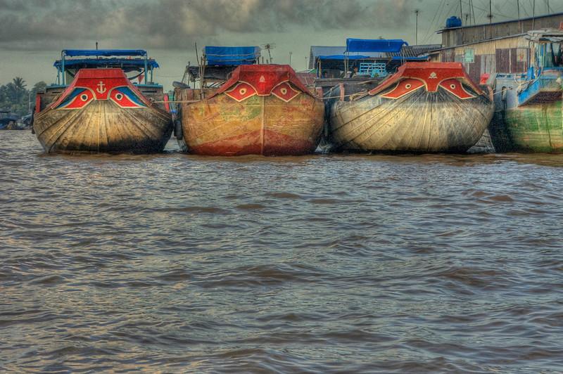 HDR: The Mekong River, Vietnam.