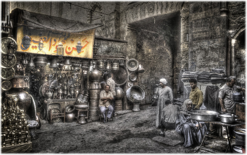 The old souk, Cairo, Egypt HDR.