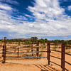 HDR: Cattle pen at the Undoolya Farm, Alice Springs, Australia.