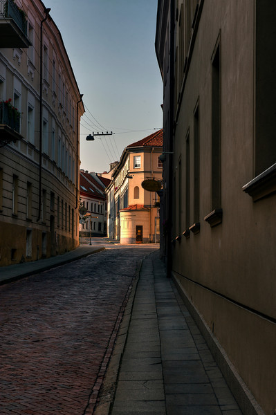 HDR: Old Town Vilnius, Lithuania, early Saturday morning, before the crowds.