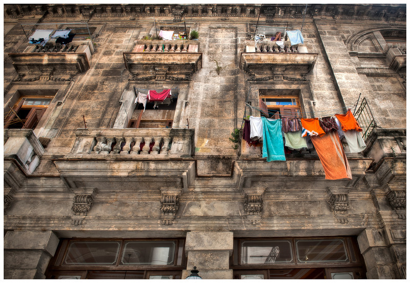 Laundry Day, Old Havana, Cuba.