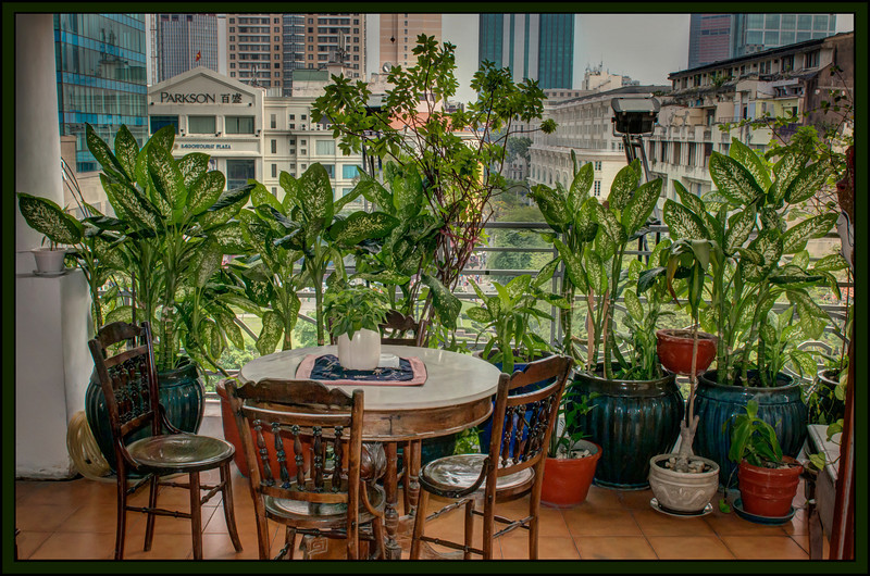 Fourth Floor Terrace, Downtown Saigon, Vietnam.