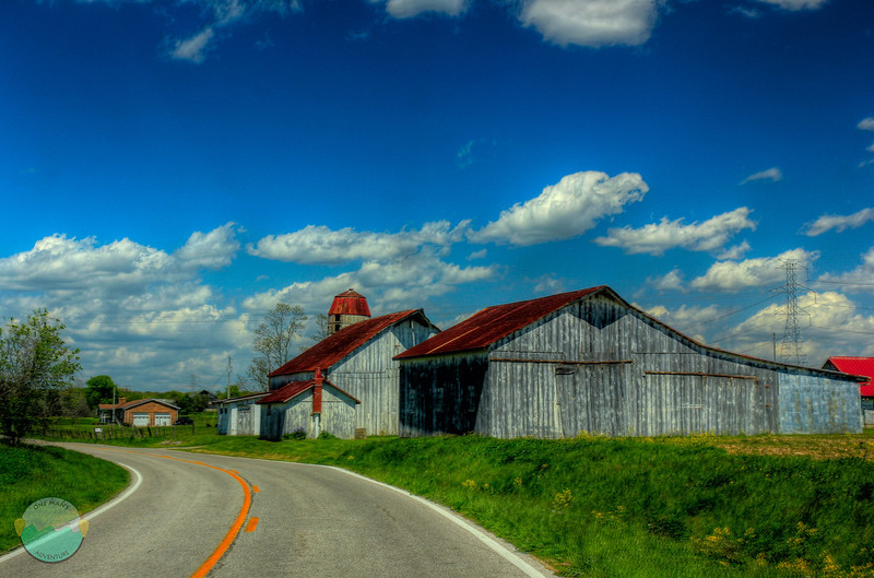 Farm Barns<br /> Some bars along KY 10 in Campbell/Pendleton County.  The clouds are what were really nice on this extremely windy day, but I liked the barn as well.