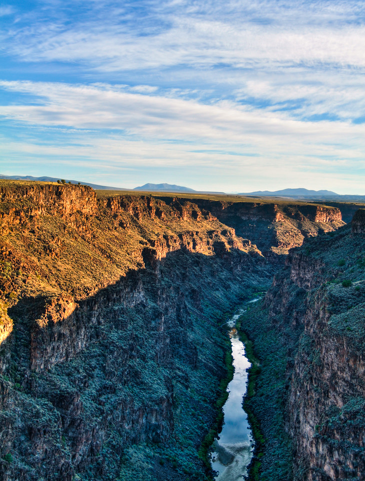 The Rio Grande gorge, about 10 minutes by car from Taos, New Mexico