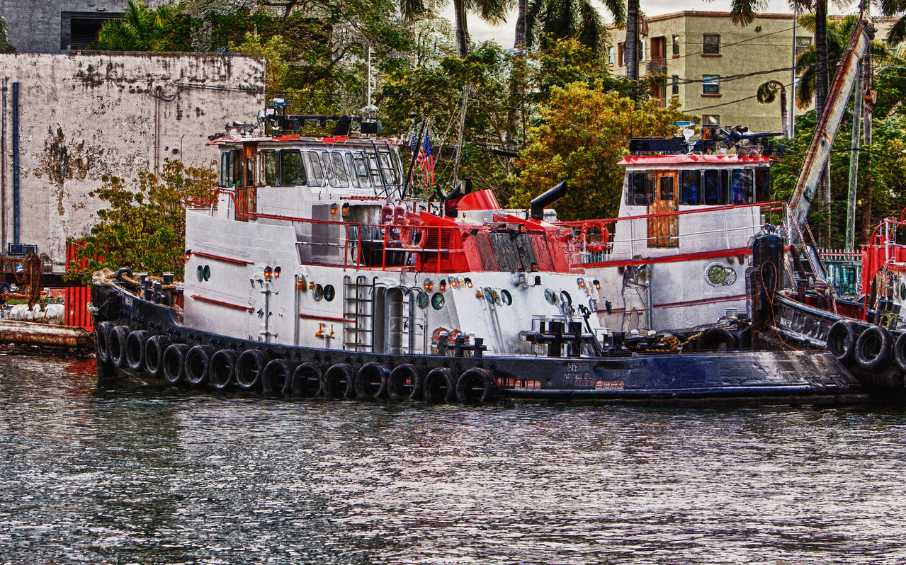 Tugboats on Miami River