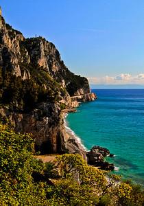 the Ligurian seaside near Varigotti, Liguria, Italia
