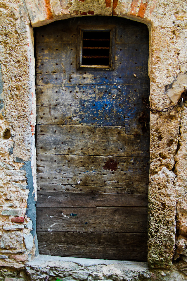 If doors could talk, I wonder what this one would have to say? A 3 image HDR, detailing the original iron nails used centuries ago. The materials used to build Castelvecchio Di Rocca Barbena are obviously indigenous - just outside the Ligurian seaside villages of Loano, and, slightly interior to that, Toirano, home to some of earth's oldest relics of man's existence in this part of the world (Grotte di Toirano). I can't say if this door is as old as the castle (12th century), but I'm sure it has a history nonetheless.