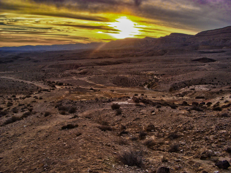 Sunset in Negev HDR