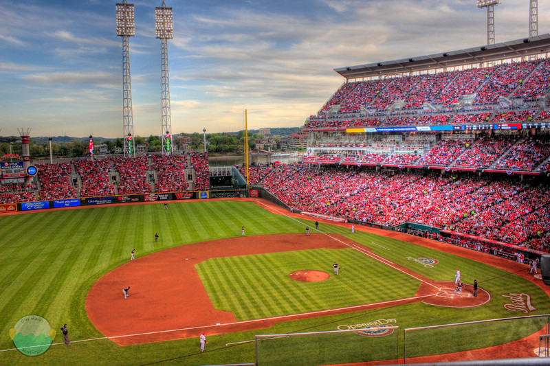 Opening Night<br /> An HDR of the Reds games on Opening Night 2012.