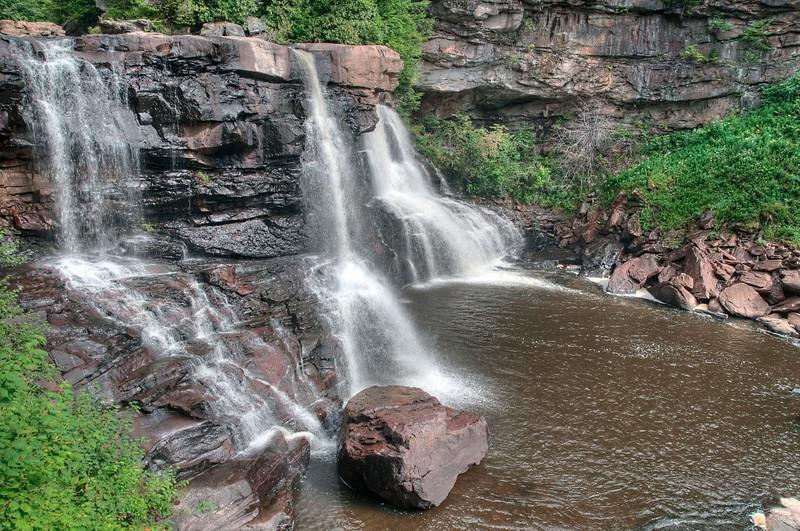 Closeup of Blackwater Falls.